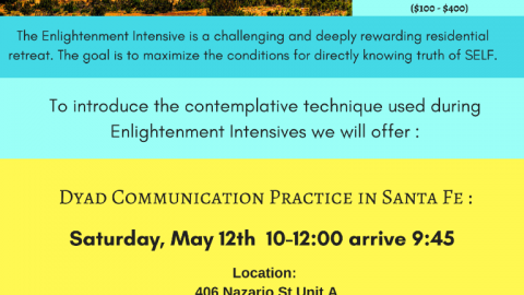 Dyad Communication Practice Sat 12 May at LeRoy's