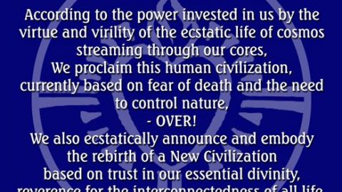 Invocation for a Civilization of Love