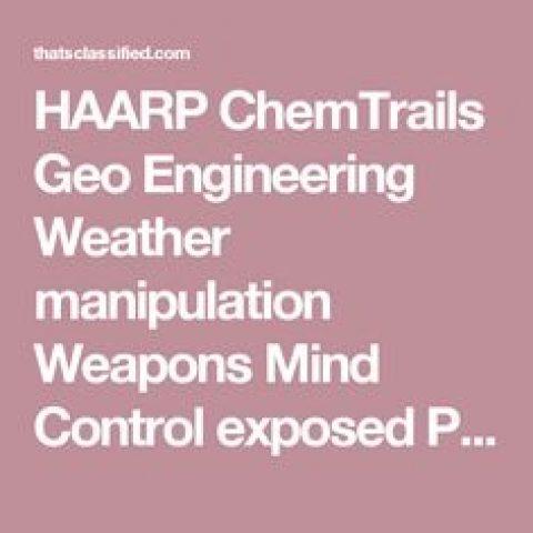 Geoengineering Manipulation – Wed 1 Nov 2017 – 6:30pm