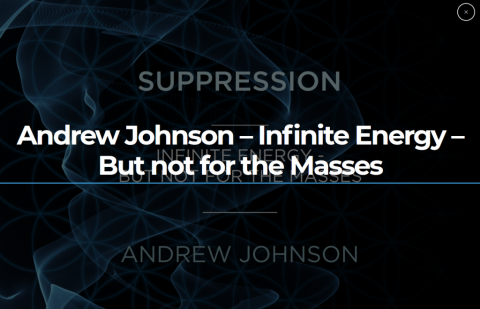 Suppression:  Infinite Energy – But Not for The Masses – Wed 21 Aug 2019 – 7pm